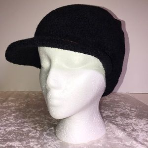 bebe Black Plush Hat. NWOT.